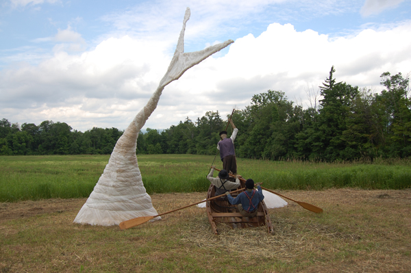 Michael Melle's Moby Dick sculpture, view 2